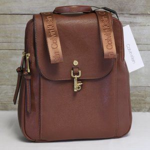 Brown Small Leather Backpack Carryall